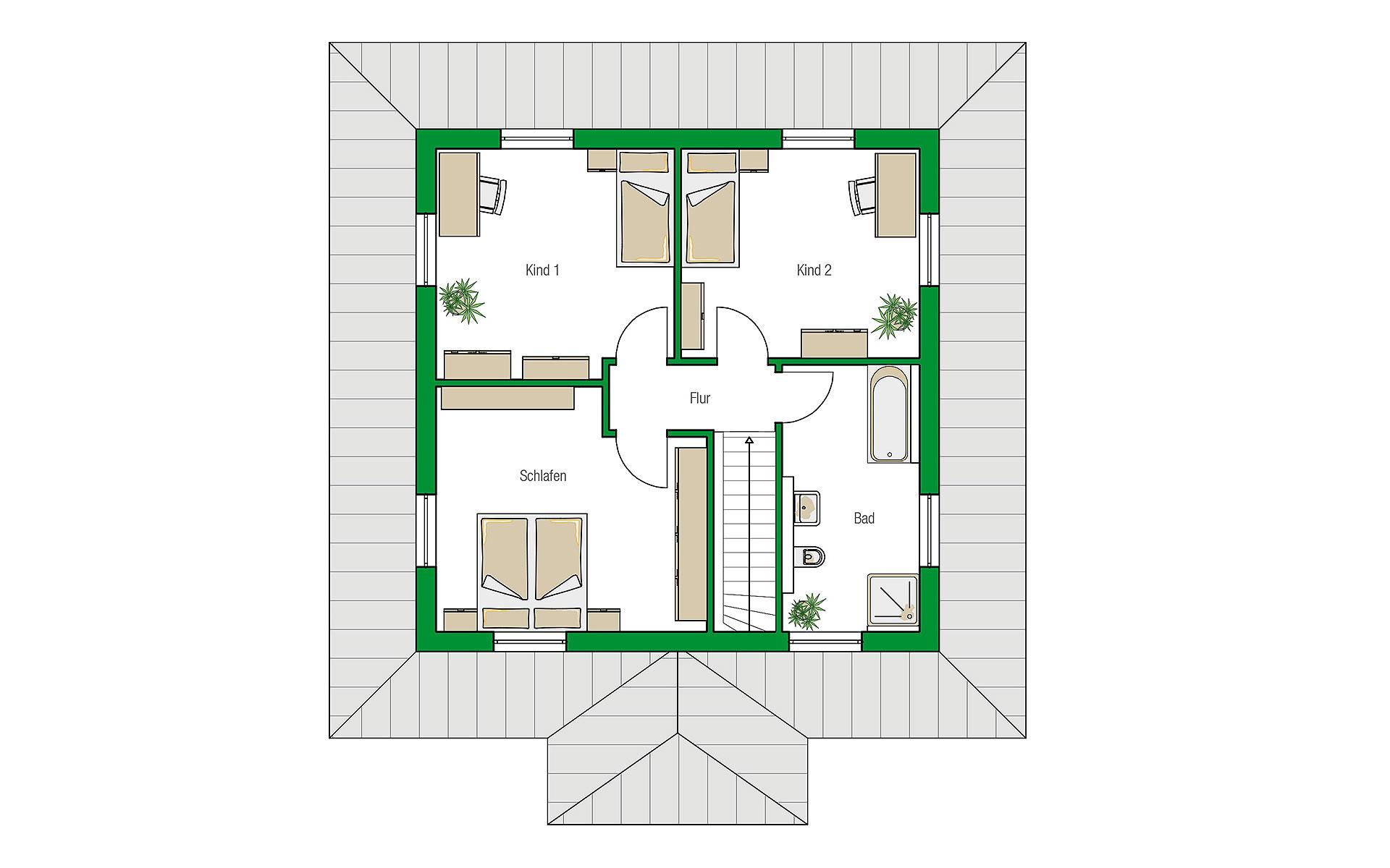 Obergeschoss Florenz von HELMA Eigenheimbau AG