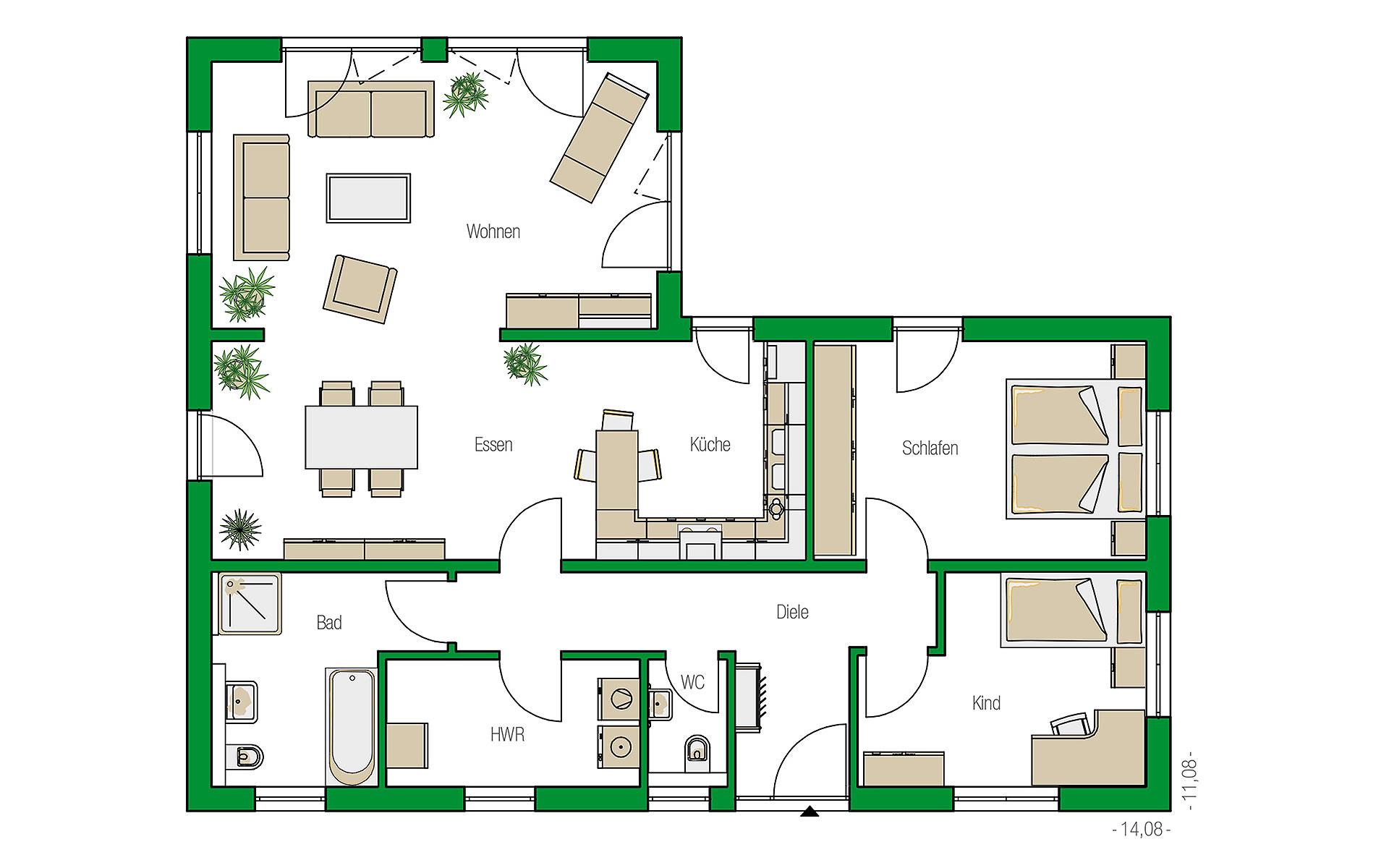 Erdgeschoss Kopenhagen von HELMA Eigenheimbau AG
