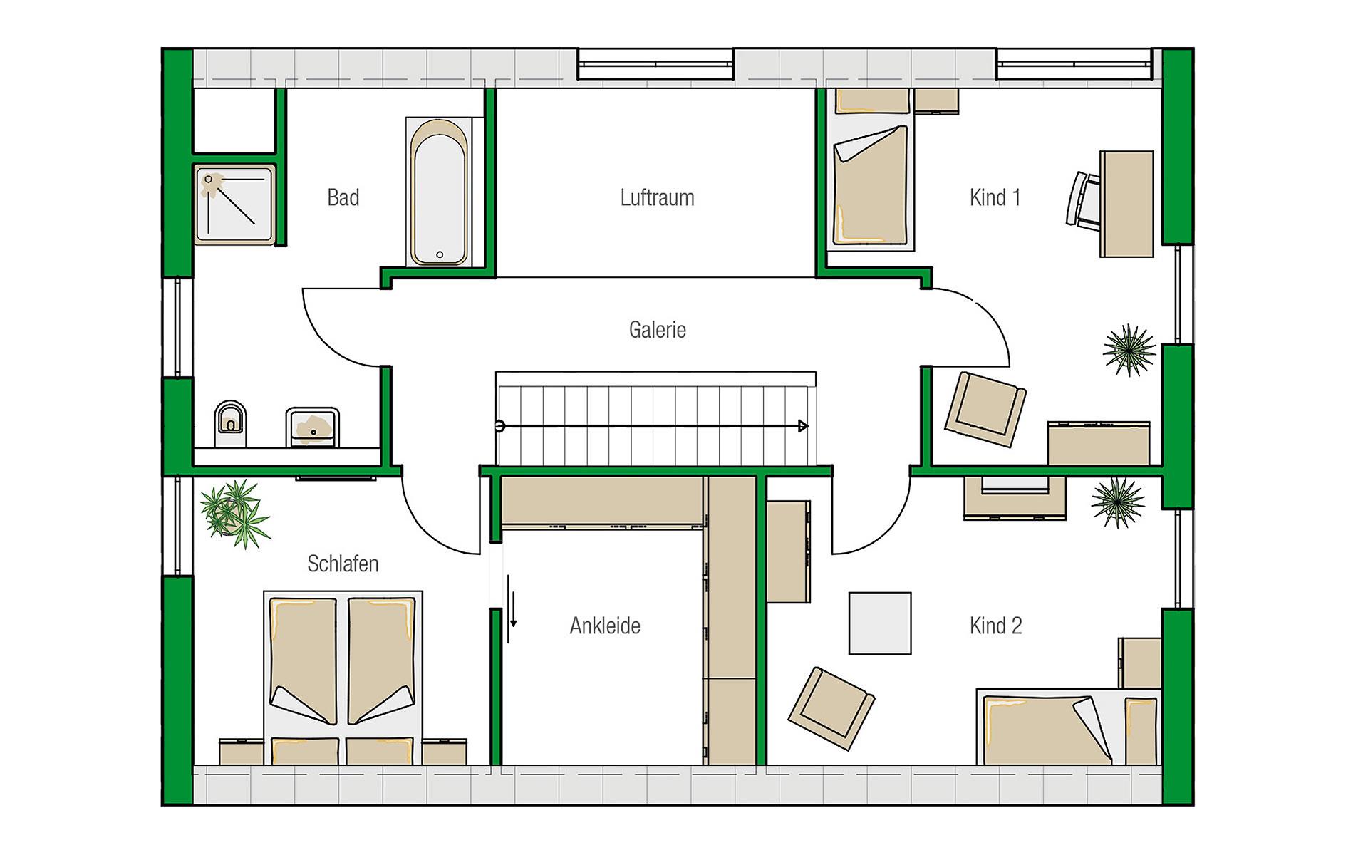 Dachgeschoss Lübeck-Variante von HELMA Eigenheimbau AG
