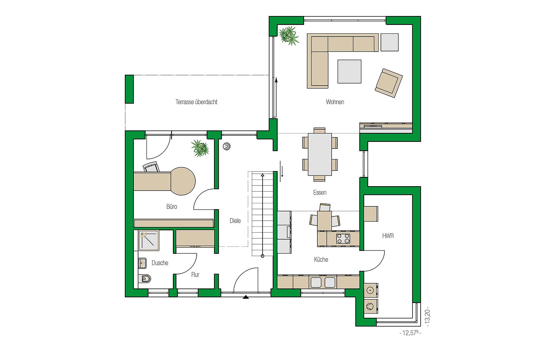 Erdgeschoss Lugano von HELMA Eigenheimbau AG