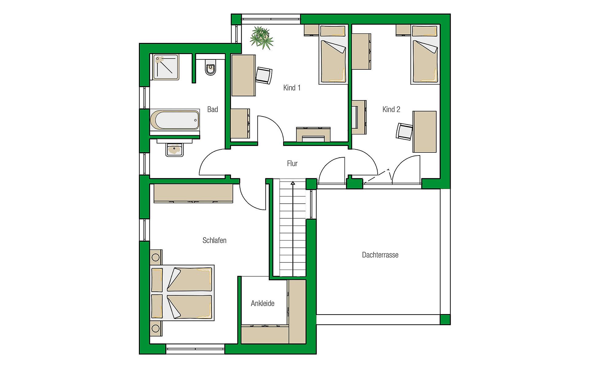 Obergeschoss Madrid von HELMA Eigenheimbau AG