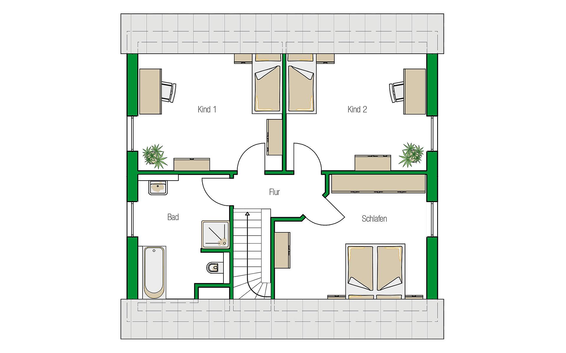 Dachgeschoss Mailand von HELMA Eigenheimbau AG