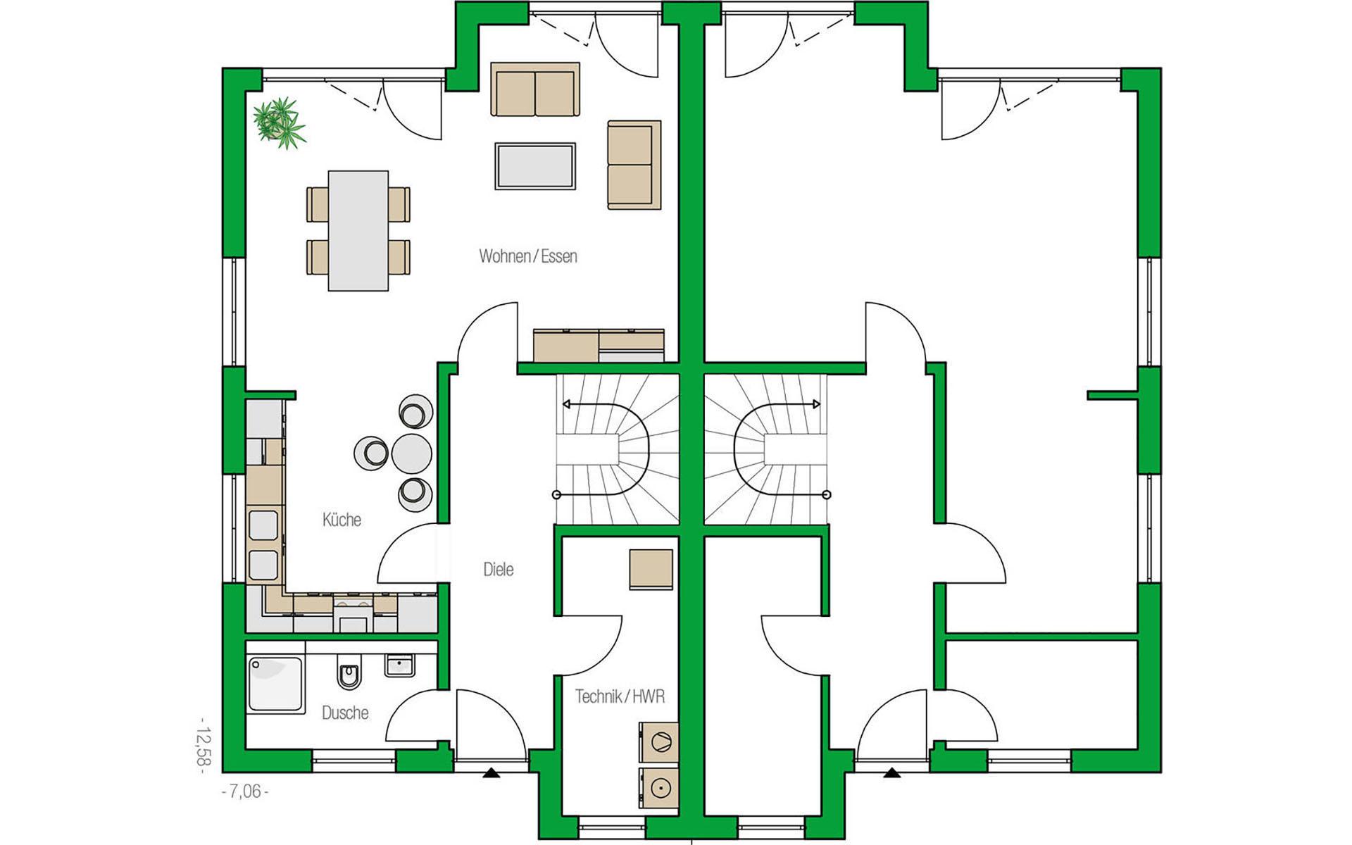 Erdgeschoss Oxford von HELMA Eigenheimbau AG