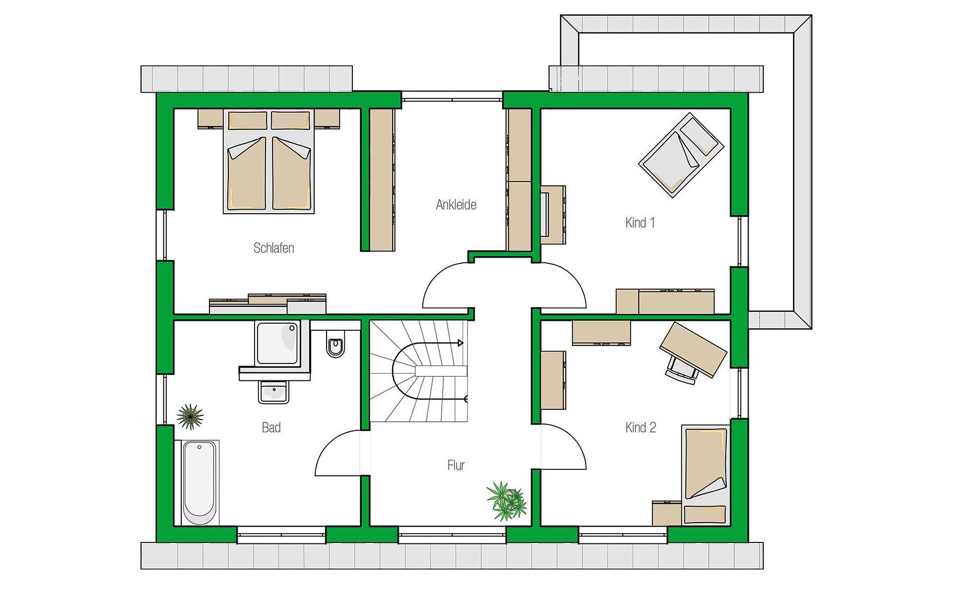 Dachgeschoss Treviso von HELMA Eigenheimbau AG