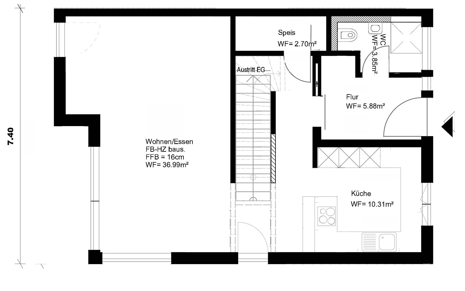 Erdgeschoss Homestory 343 von Lehner-Haus GmbH