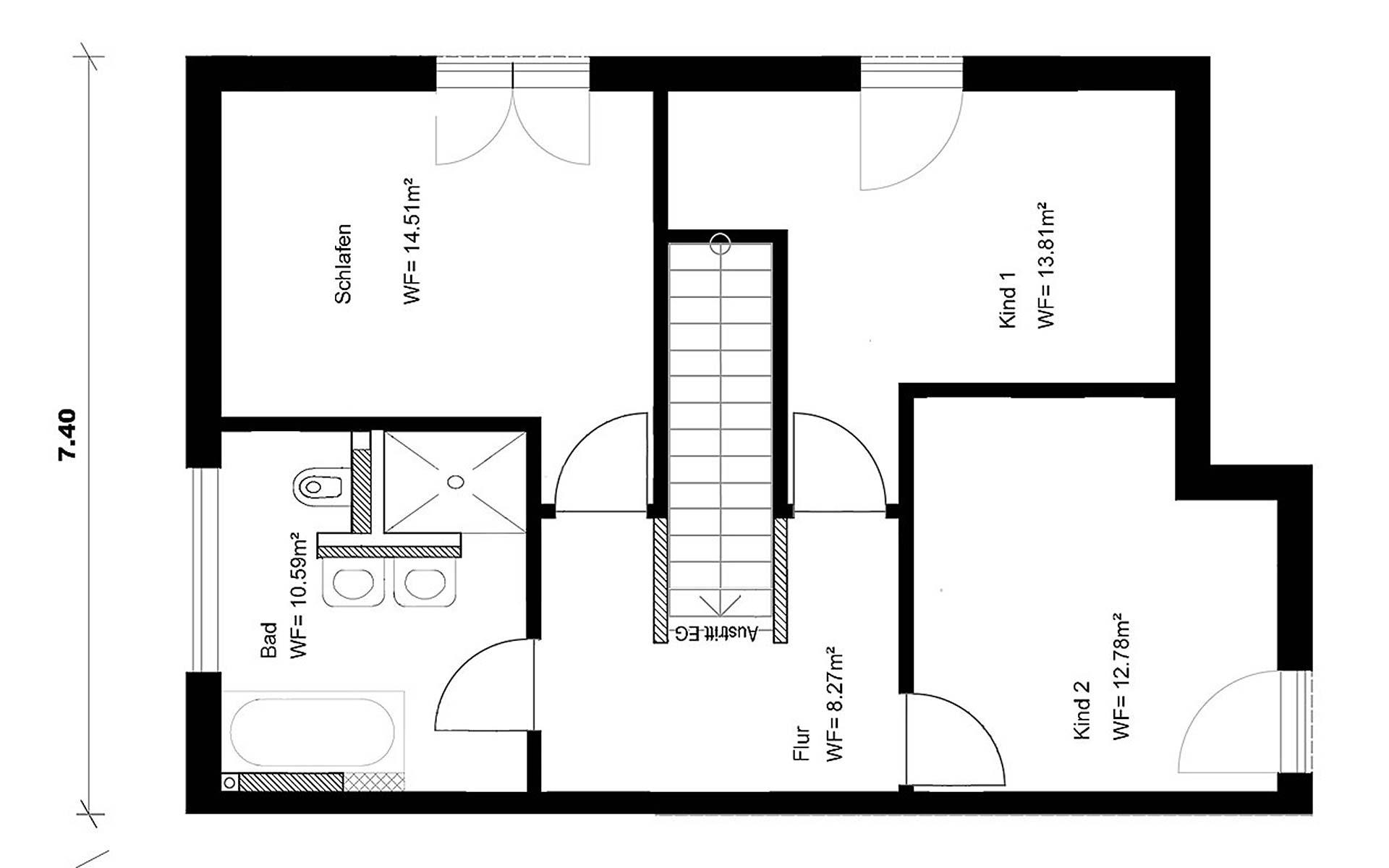 Dachgeschoss Homestory 343 von Lehner-Haus GmbH