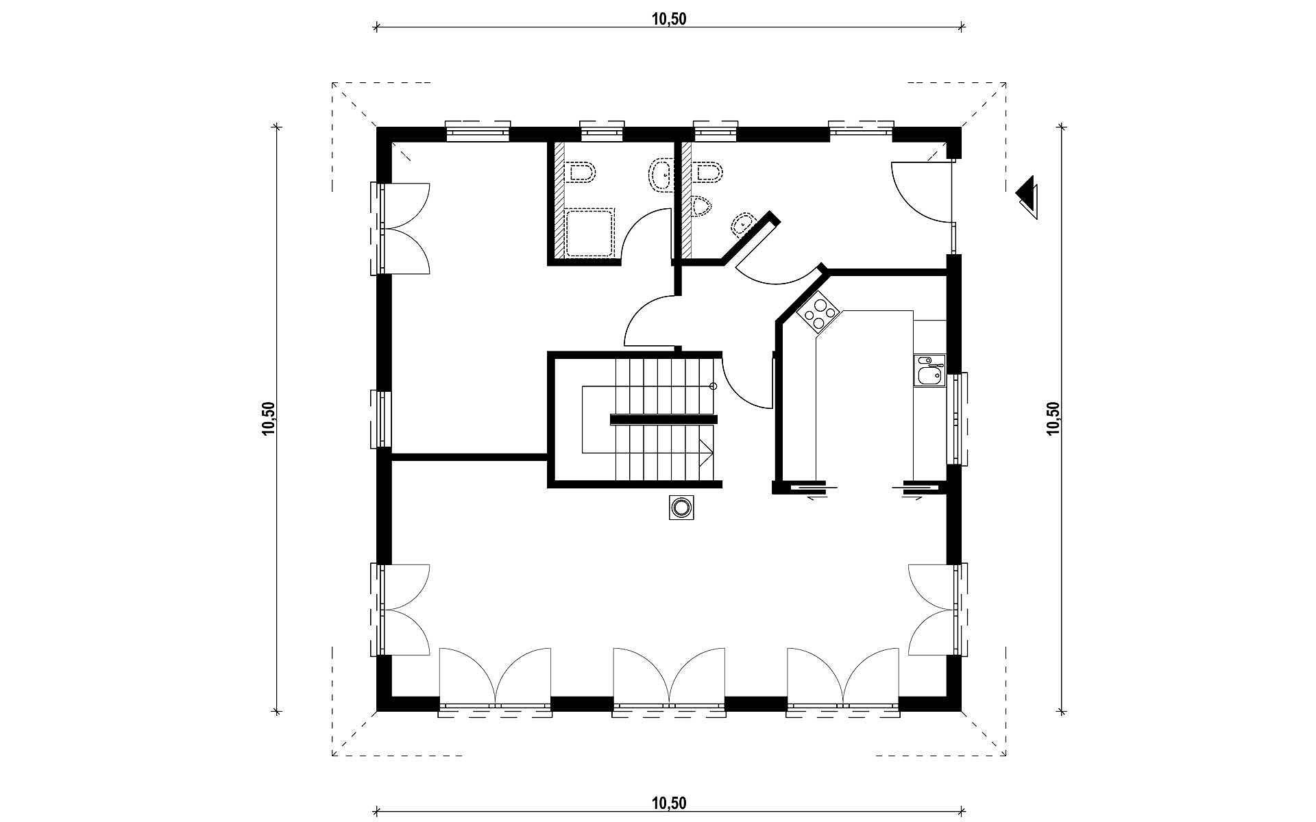 Erdgeschoss Homestory 731 von Lehner-Haus GmbH