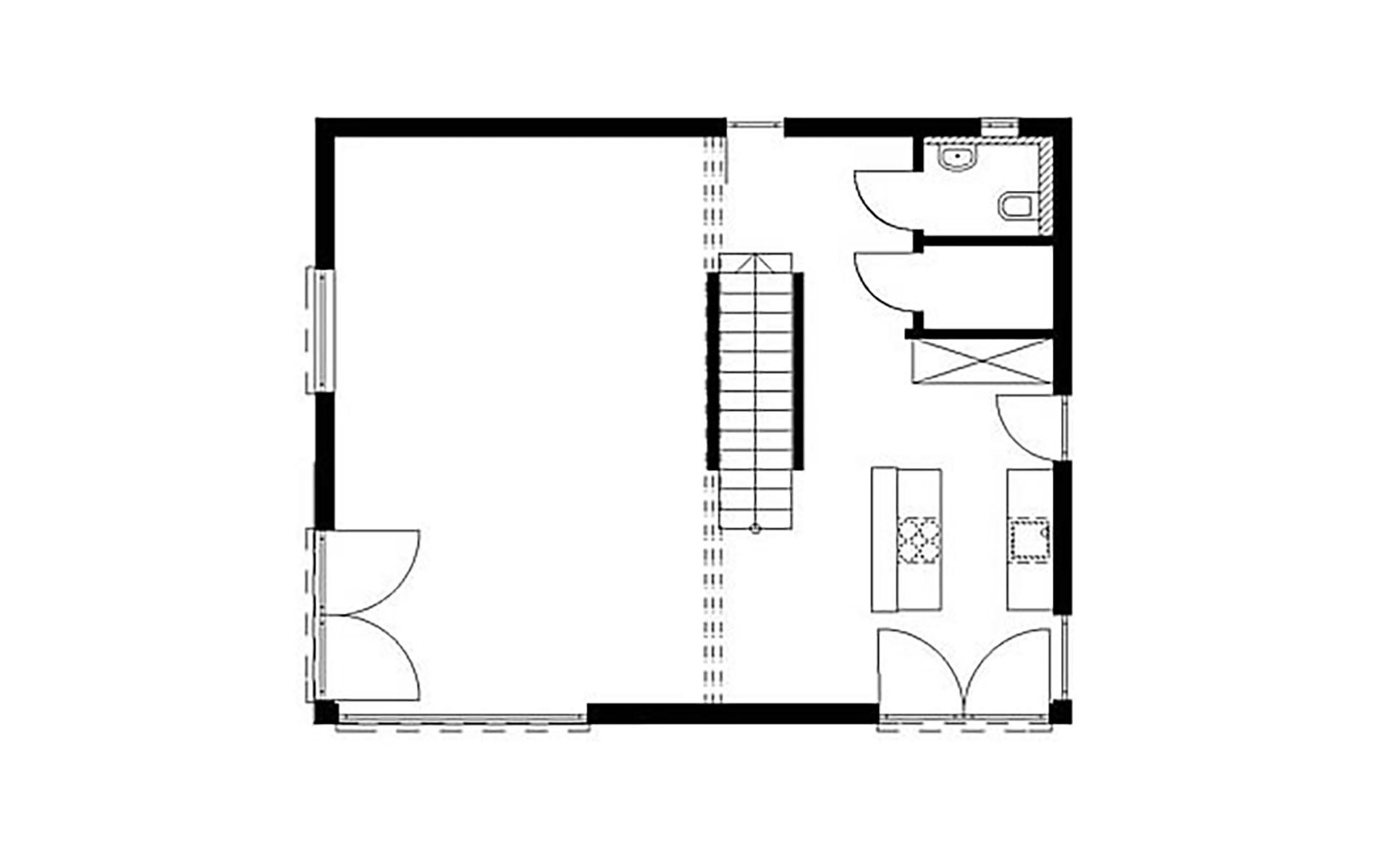 Erdgeschoss Homestory 824 von Lehner-Haus GmbH