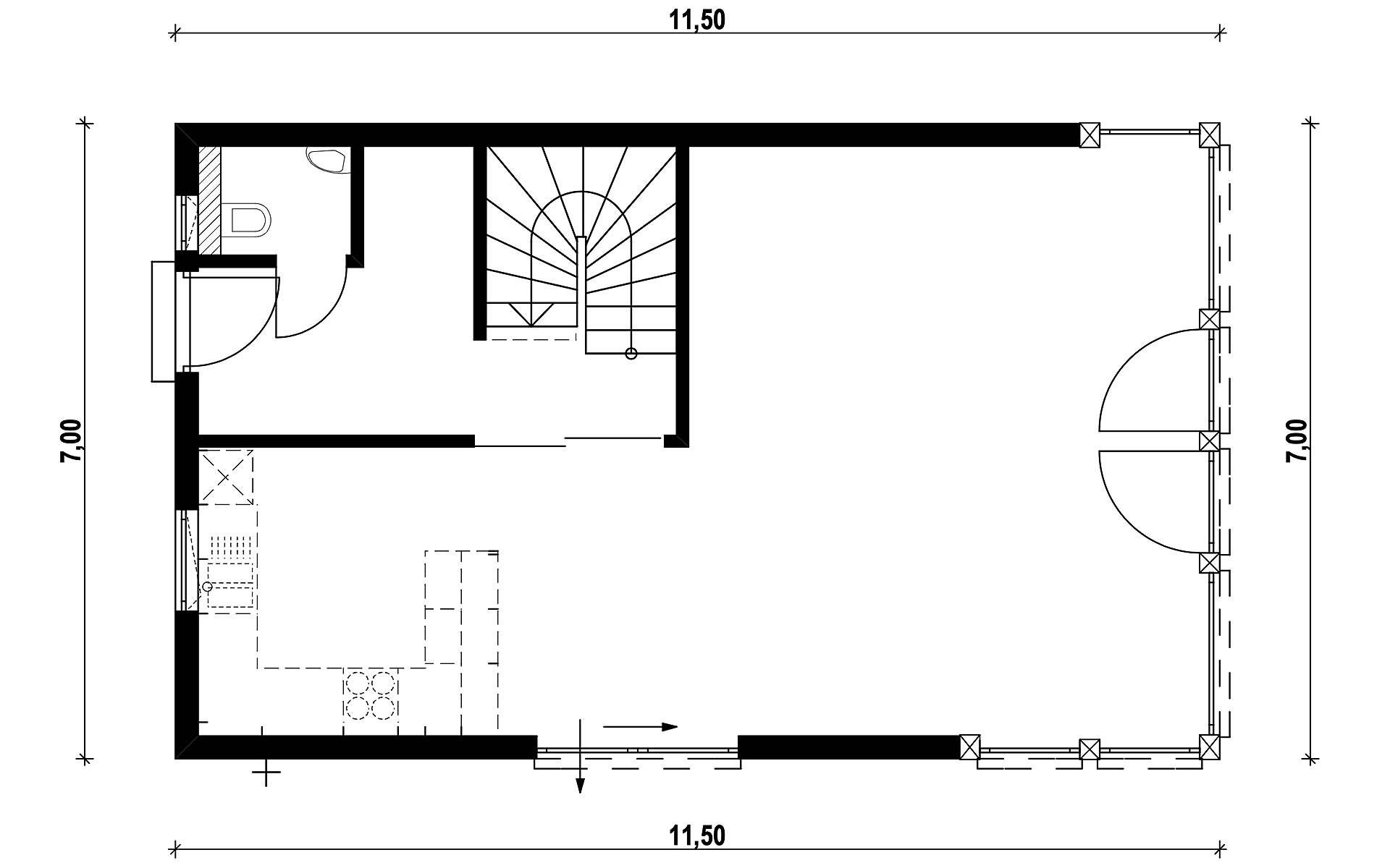 Erdgeschoss Homestory 901 von Lehner-Haus GmbH