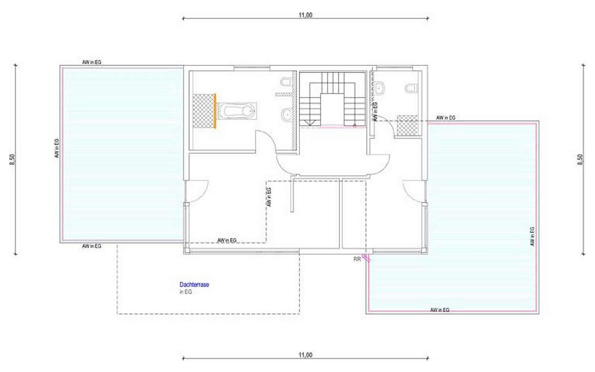 Obergeschoss Homestory 836 von Lehner-Haus GmbH