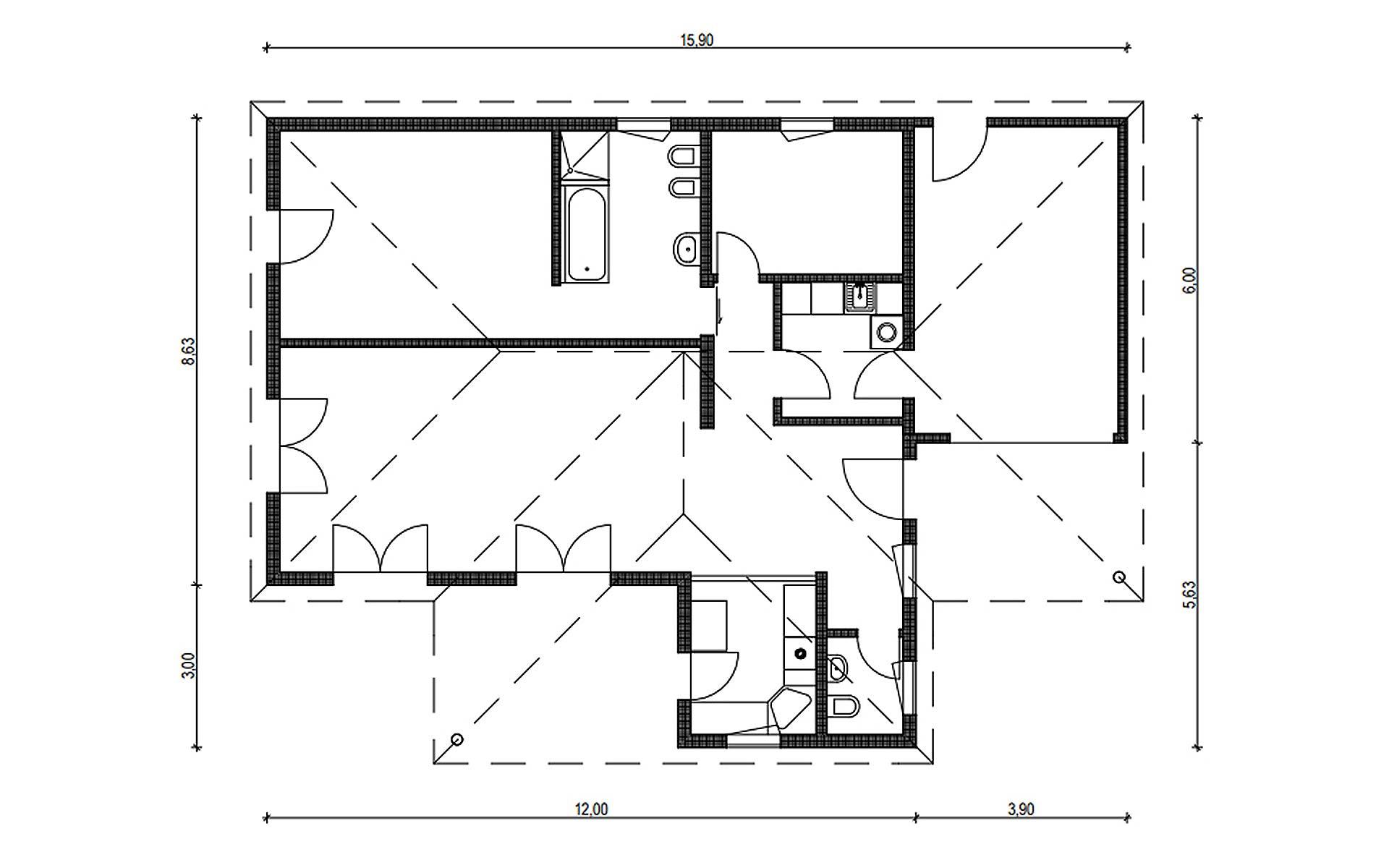 Erdgeschoss Homestory 878 von Lehner-Haus GmbH
