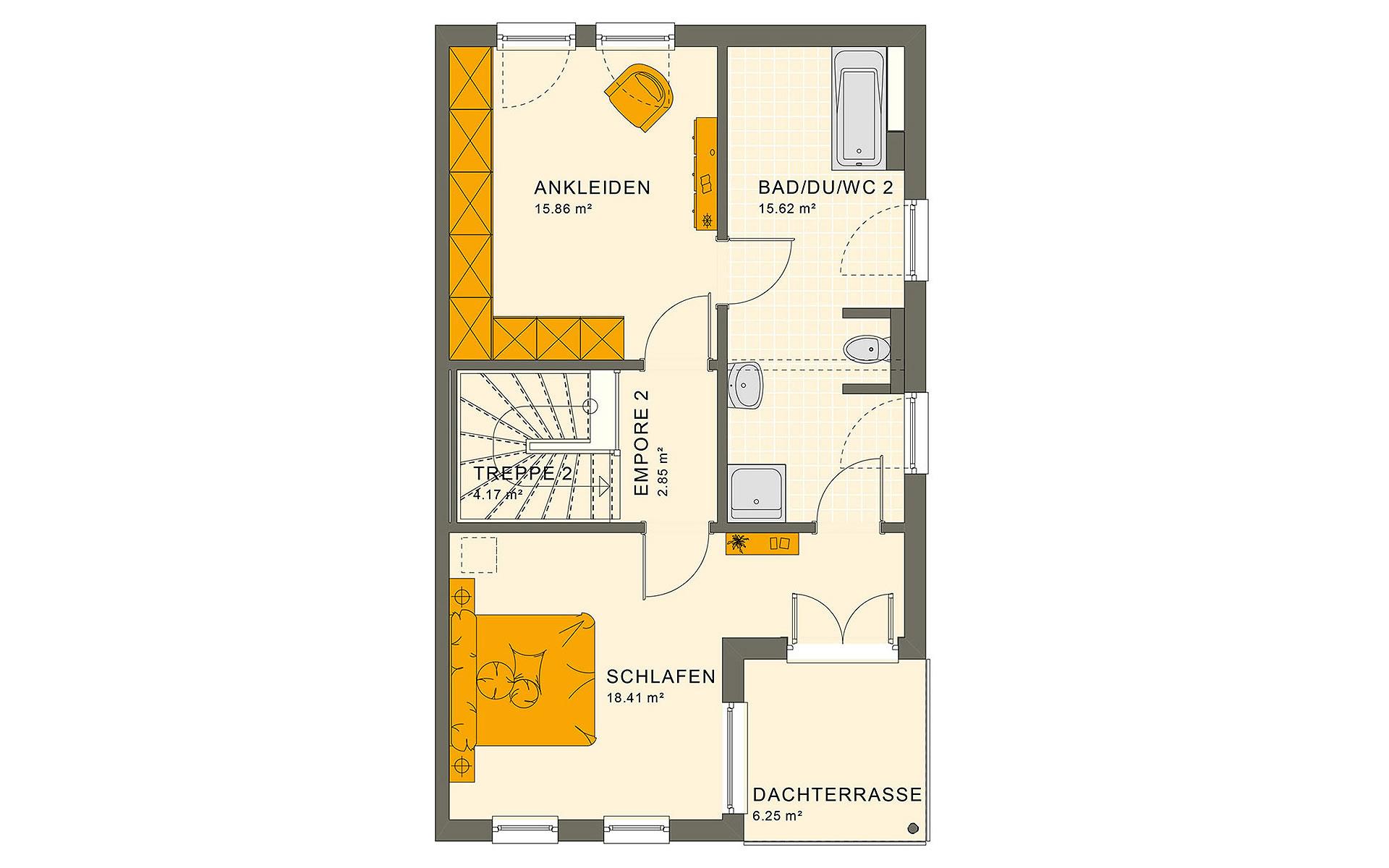 Dachgeschoss SOLUTION 126 XL V5 von Living Fertighaus GmbH