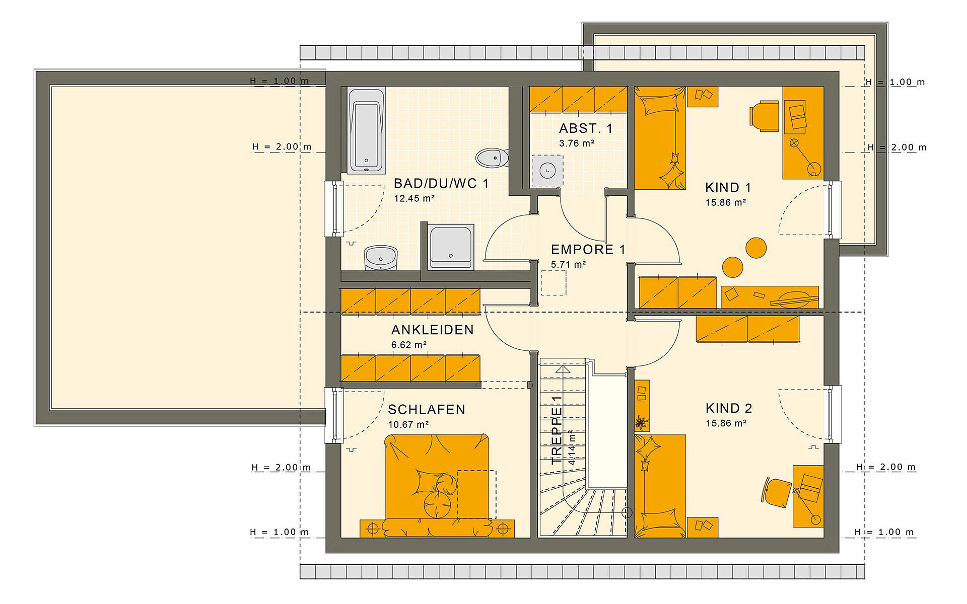 Dachgeschoss SOLUTION 183 V3 von Living Fertighaus GmbH