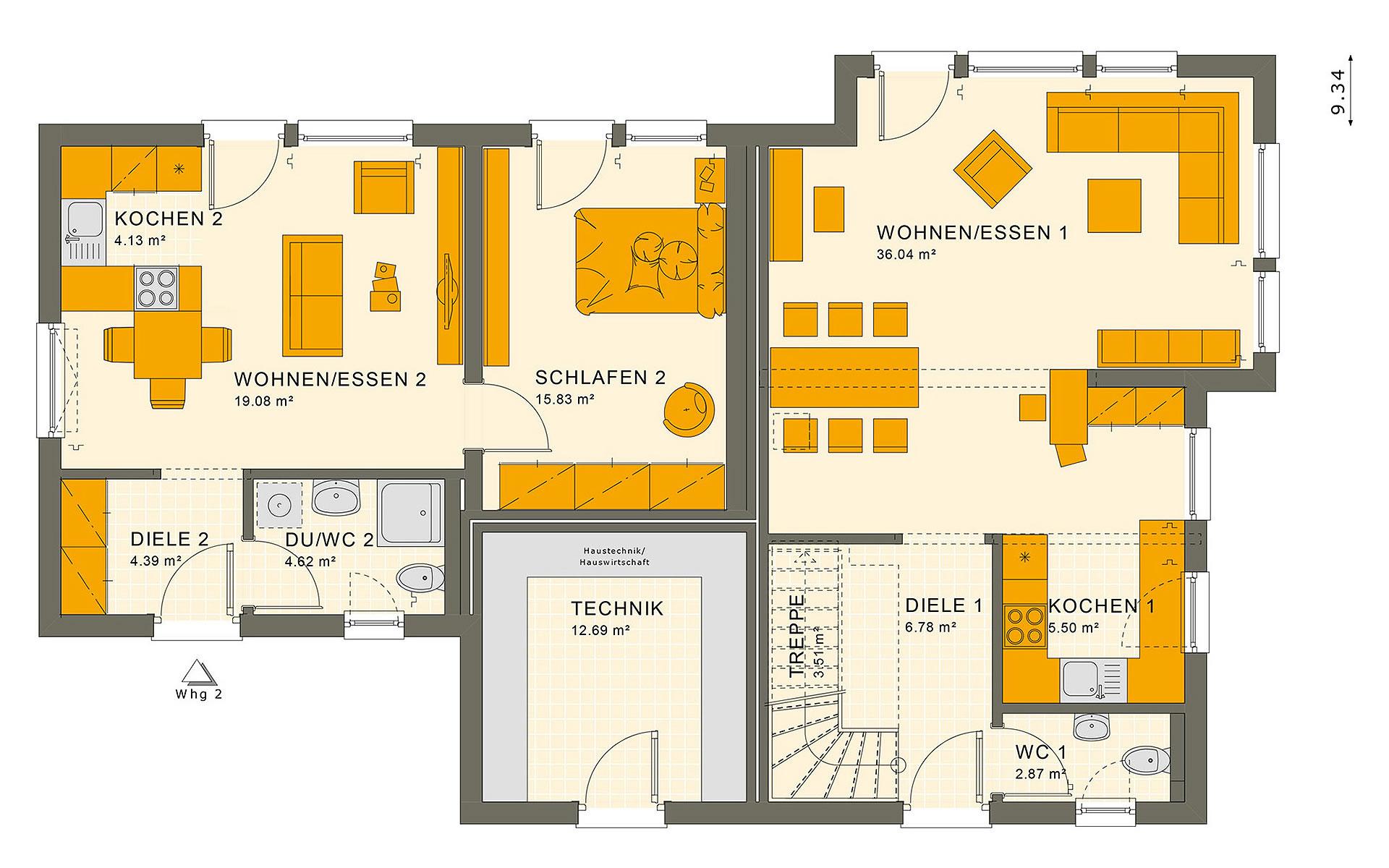 Erdgeschoss SOLUTION 183 V3 von Living Fertighaus GmbH