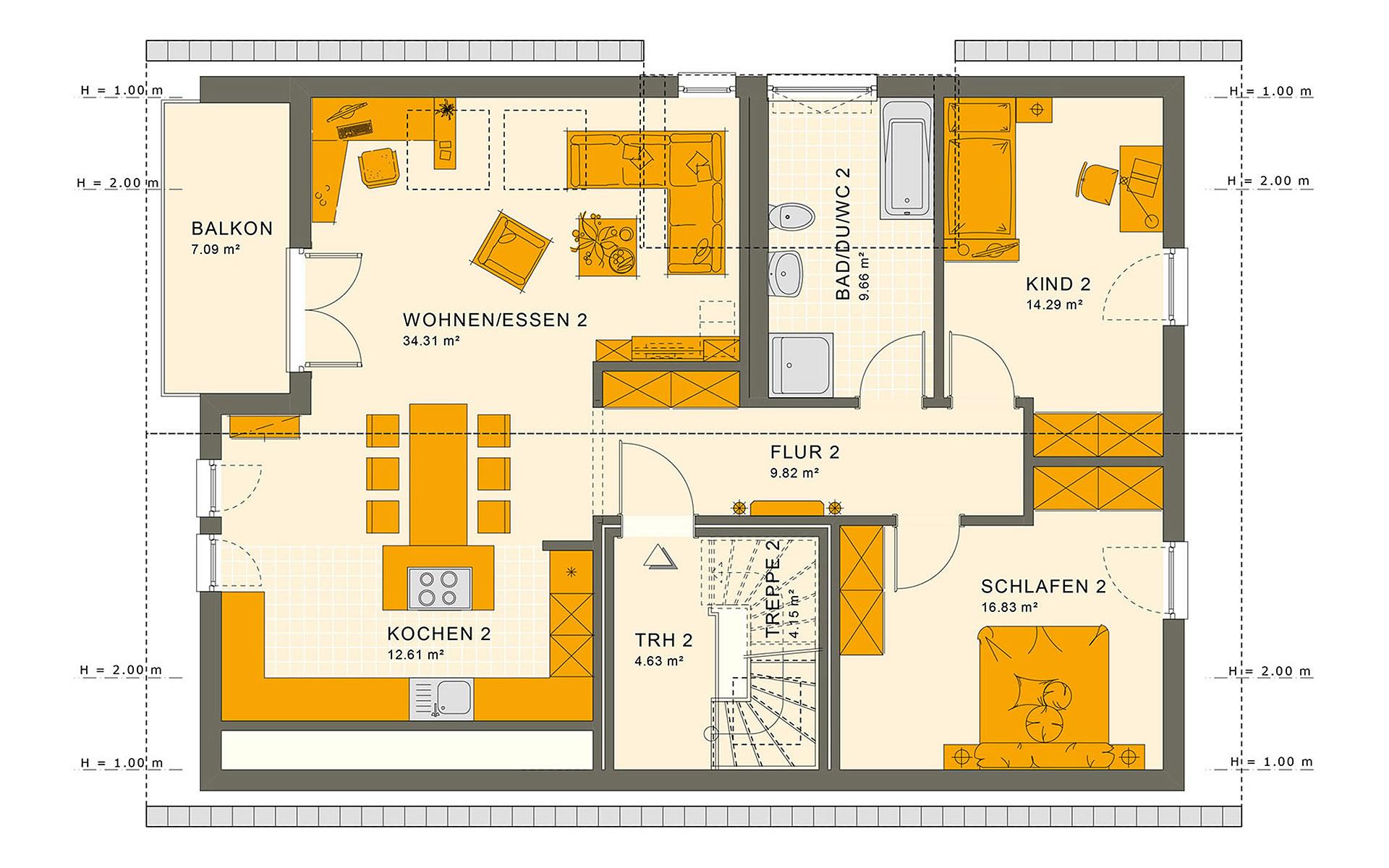 Dachgeschoss SOLUTION 204 V2 von Living Fertighaus GmbH