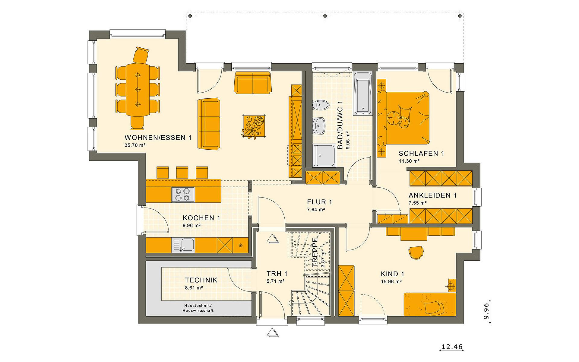 Erdgeschoss SOLUTION 204 V8 von Living Fertighaus GmbH