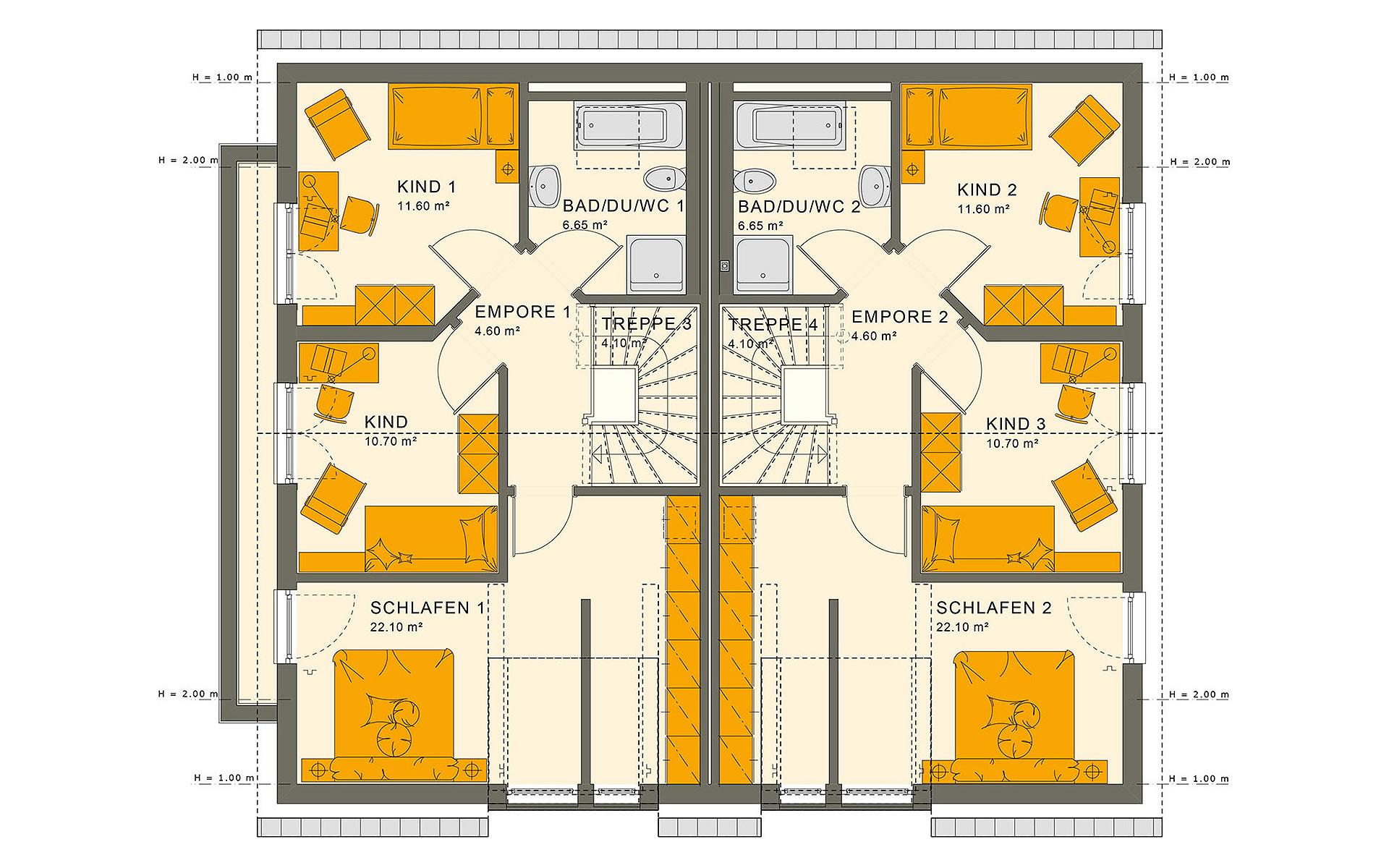 Dachgeschoss SOLUTION 242 V3 von Living Fertighaus GmbH