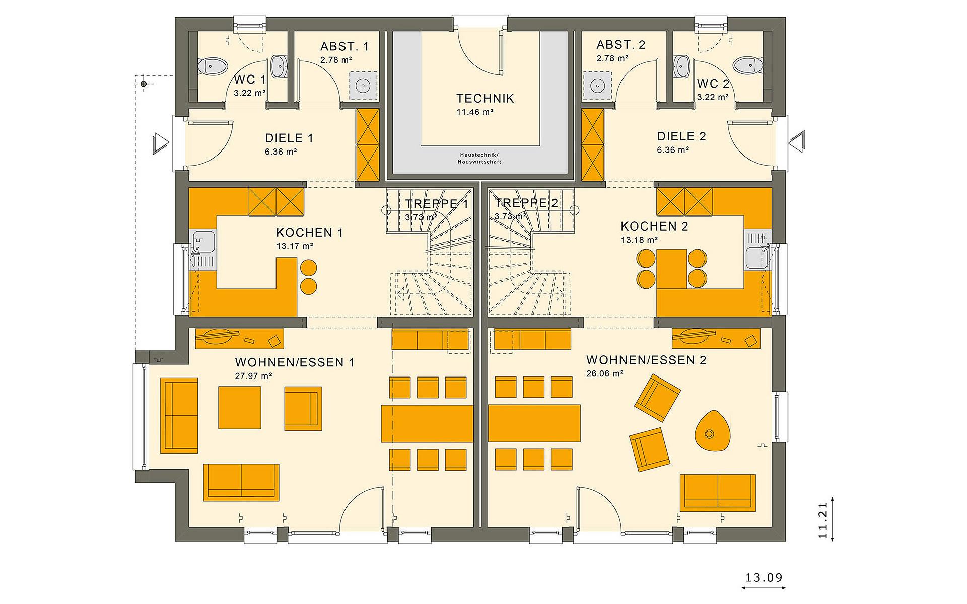 Erdgeschoss SOLUTION 242 V3 von Living Fertighaus GmbH