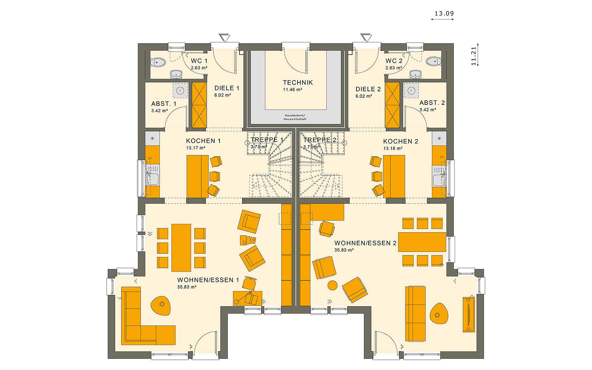 Erdgeschoss SOLUTION 242 V6 von Living Fertighaus GmbH