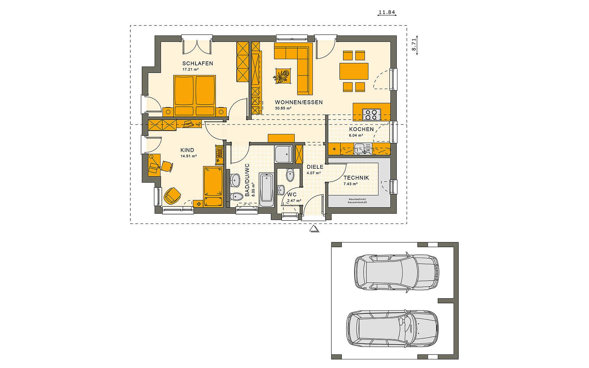 Erdgeschoss SOLUTION 87 V3 von Living Fertighaus GmbH