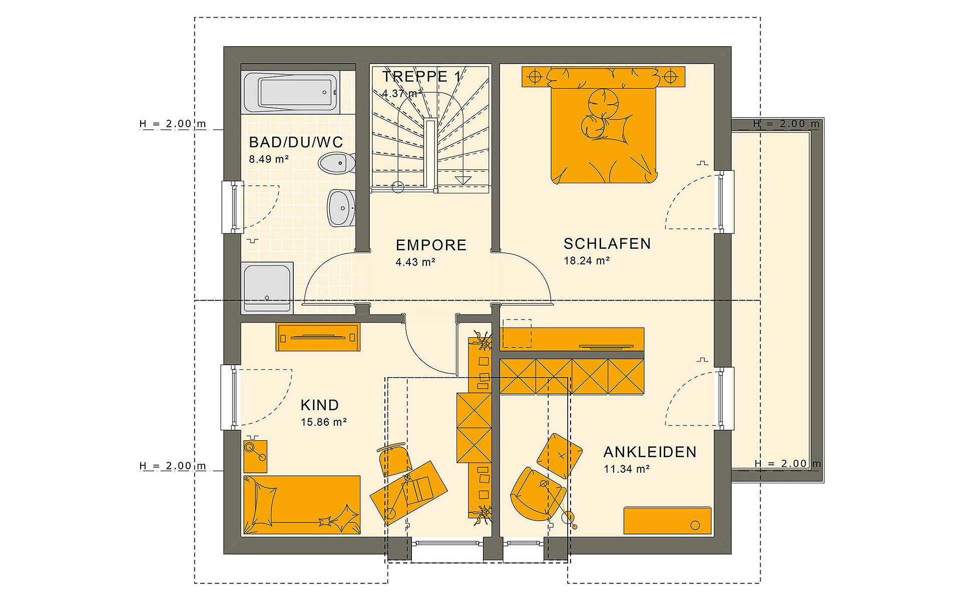 Dachgeschoss SUNSHINE 126 V5 von Living Fertighaus GmbH