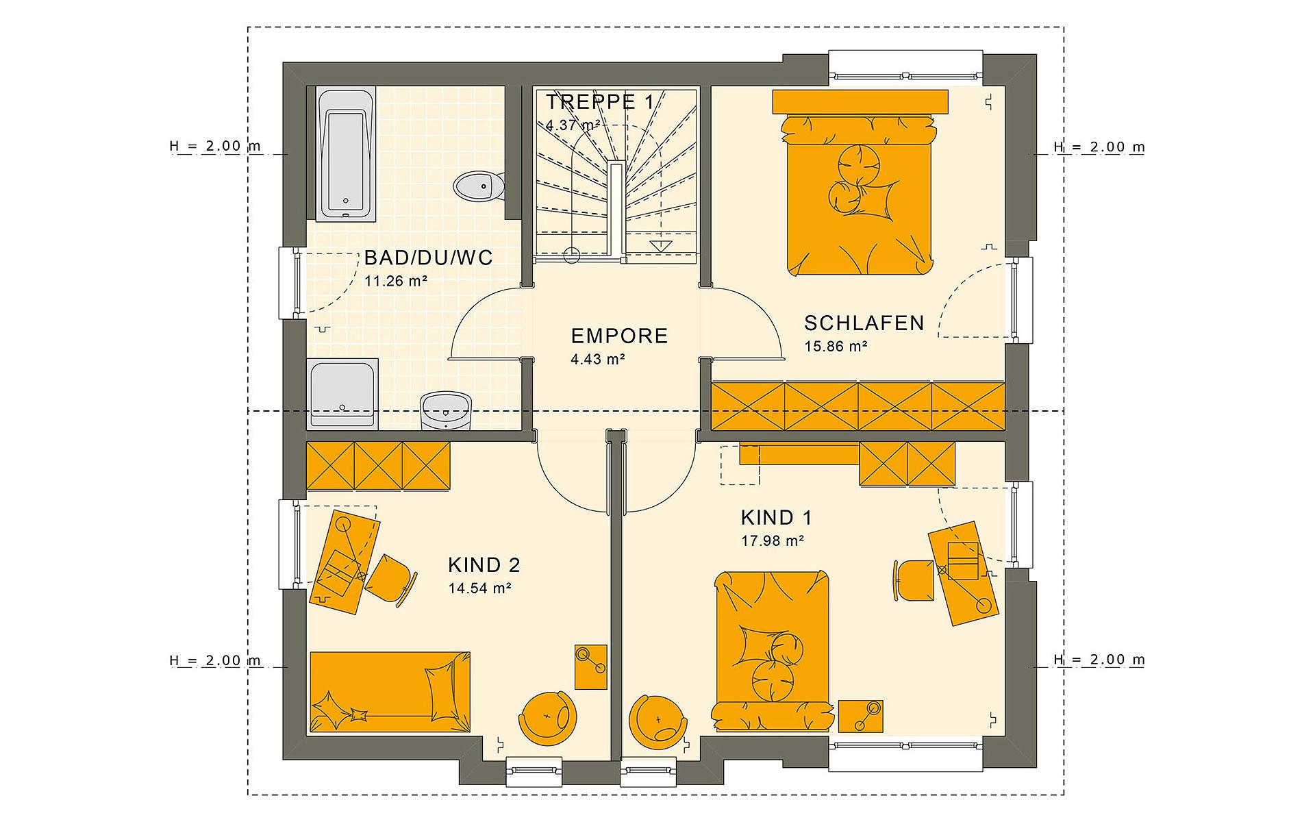 Dachgeschoss SUNSHINE 136 V4 von Living Fertighaus GmbH