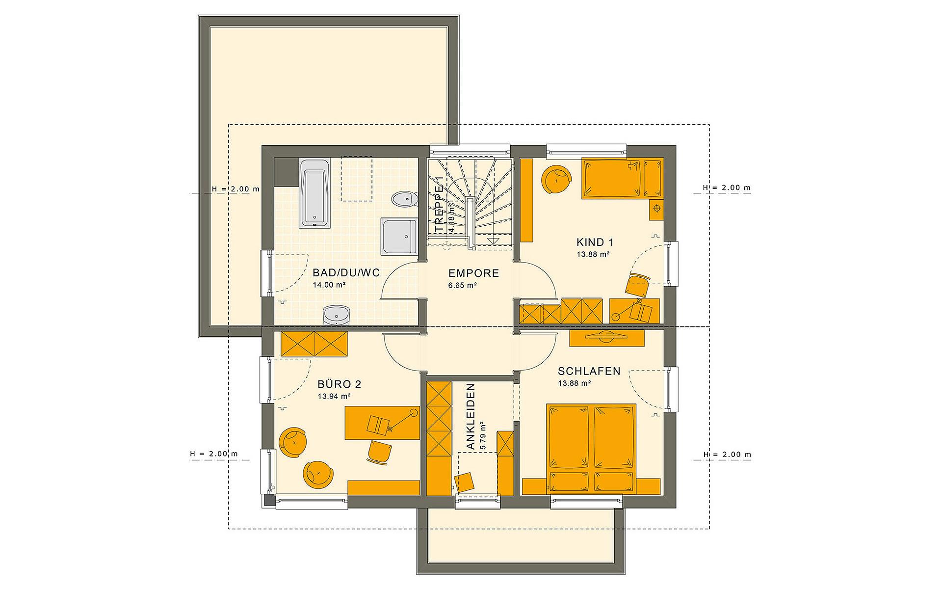 Dachgeschoss SUNSHINE 143 Mülheim-Kärlich von Living Fertighaus GmbH