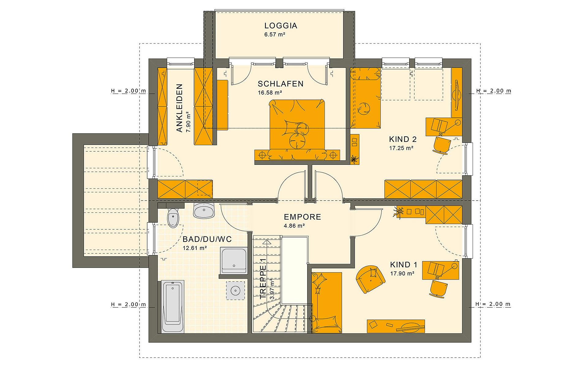 Dachgeschoss SUNSHINE 165 V5 von Living Fertighaus GmbH