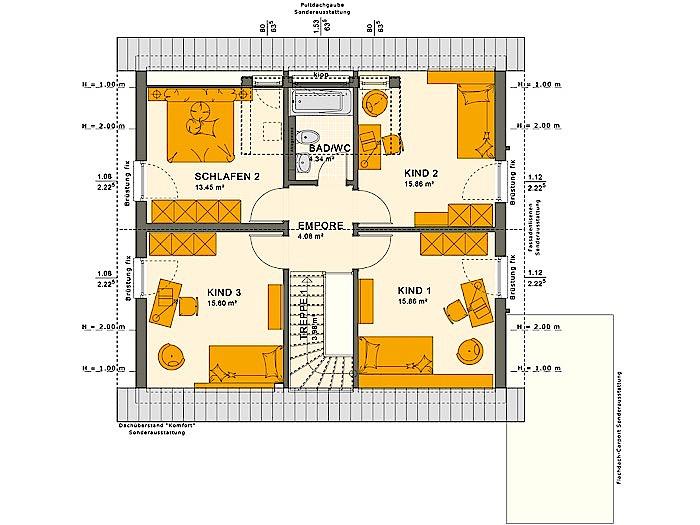 Dachgeschoss SOLUTION 151 V3 von Living Fertighaus GmbH