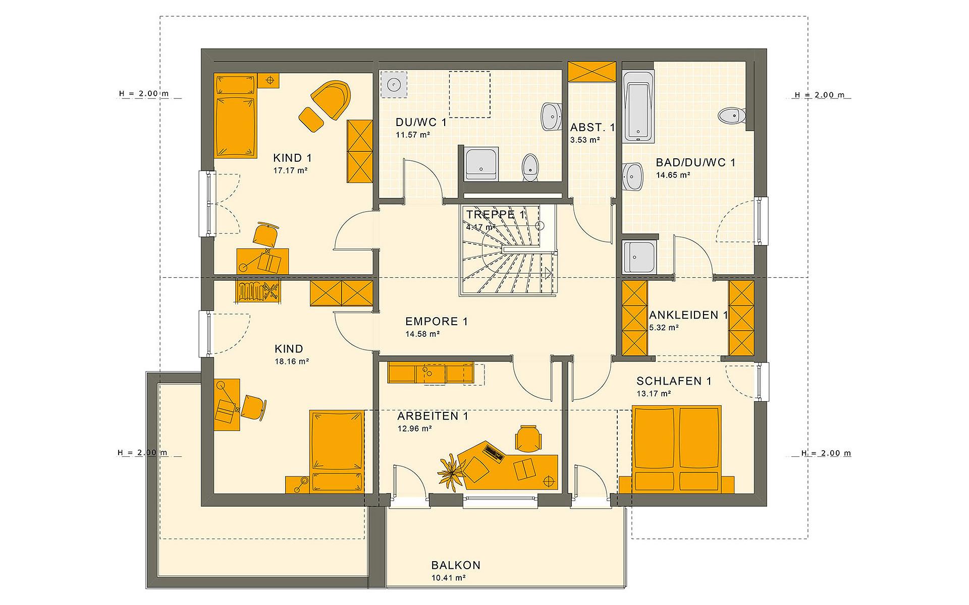 Dachgeschoss SOLUTION 230 V5 von Living Fertighaus GmbH