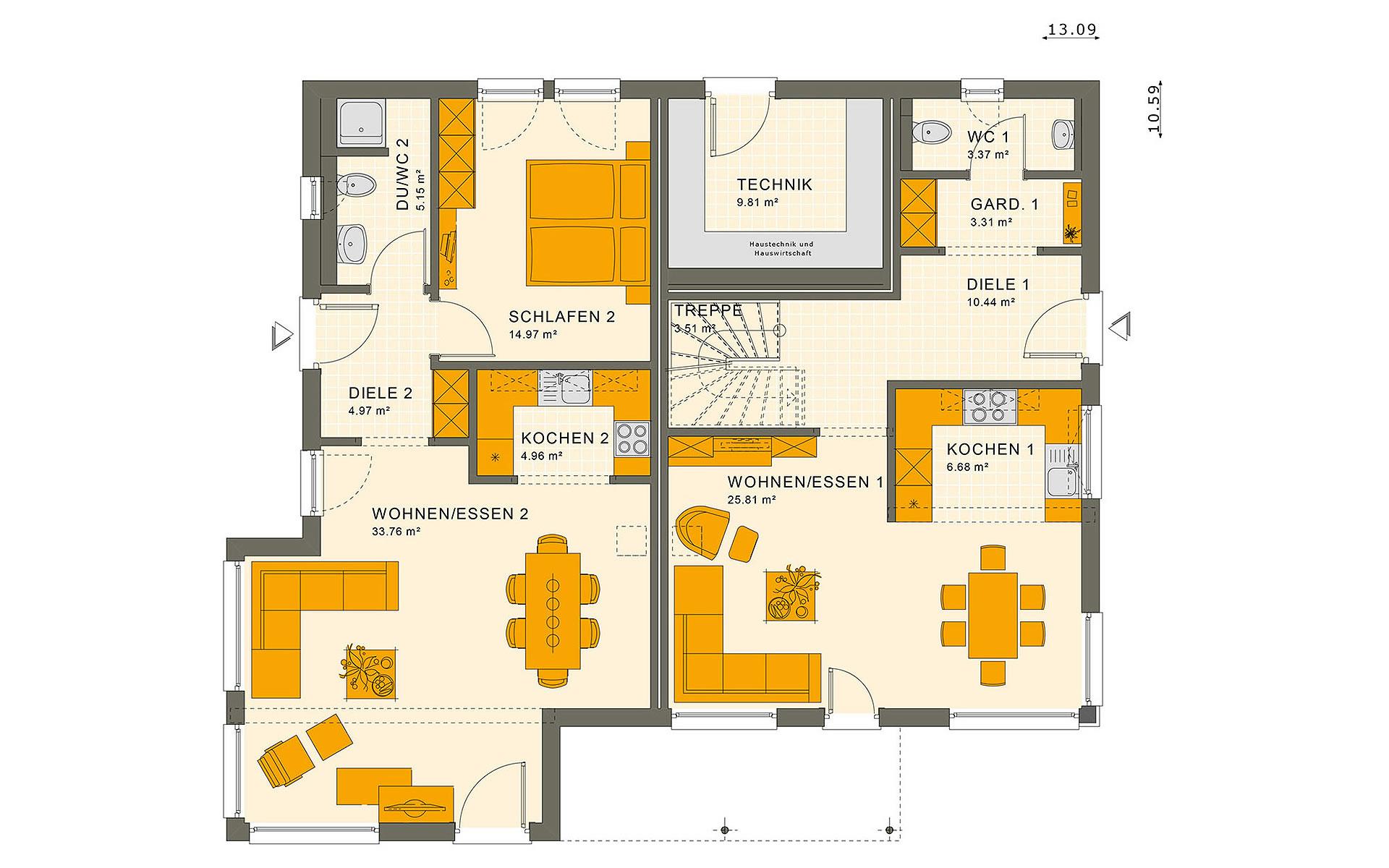 Erdgeschoss SOLUTION 230 V5 von Living Fertighaus GmbH