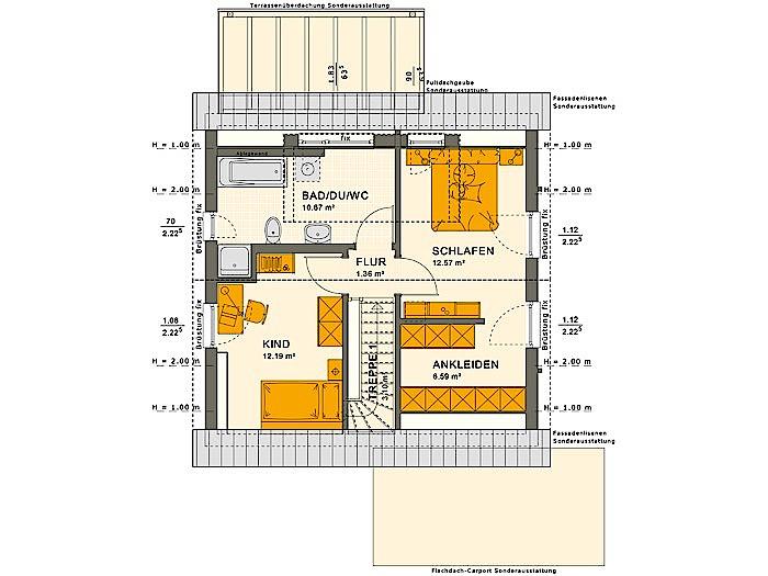 Dachgeschoss SOLUTION 106 V3 von Living Fertighaus GmbH