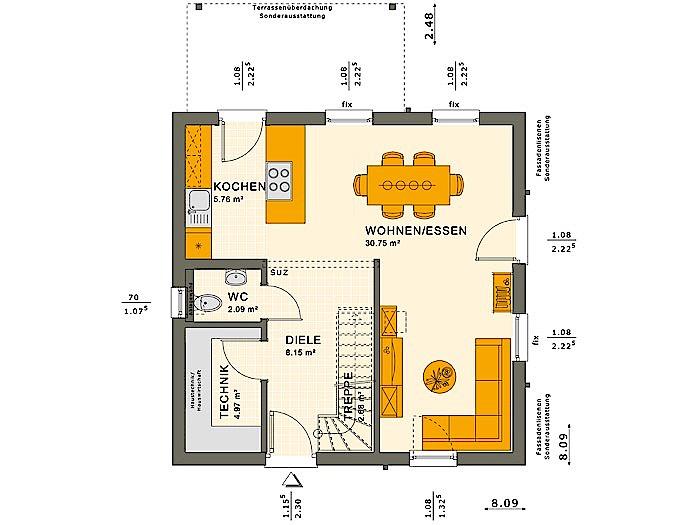 Erdgeschoss SOLUTION 106 V3 von Living Fertighaus GmbH