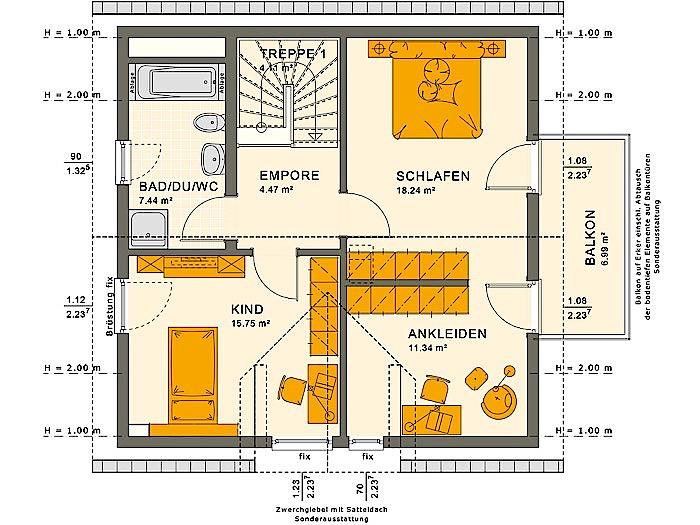 Dachgeschoss SOLUTION 125 V4 von Living Fertighaus GmbH