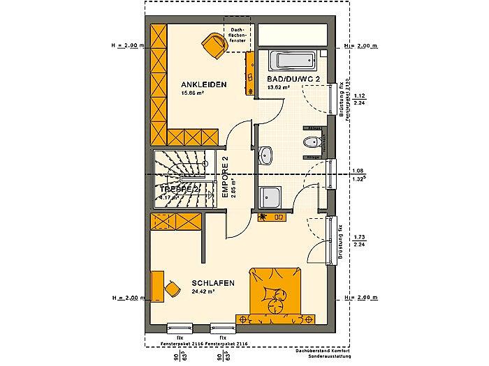 Dachgeschoss SOLUTION 126 XL V4 von Living Fertighaus GmbH