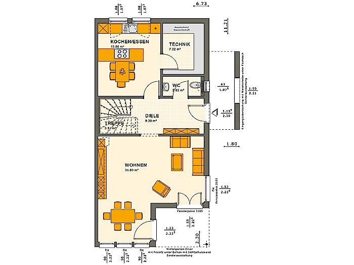Erdgeschoss SOLUTION 126 XL V4 von Living Fertighaus GmbH