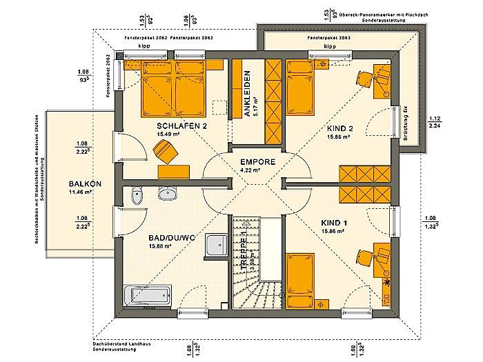 Obergeschoss SOLUTION 151 V9 von Living Fertighaus GmbH
