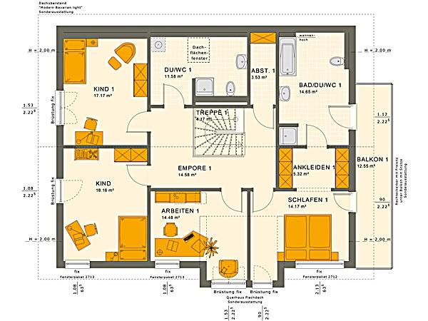 Dachgeschoss SOLUTION 230 V4 von Living Fertighaus GmbH