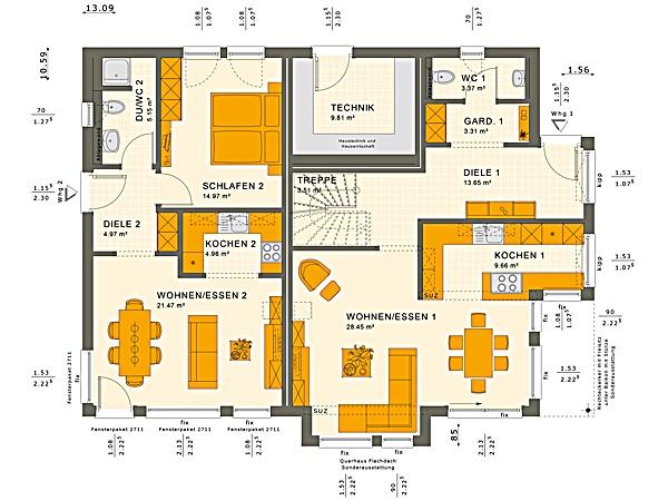 Erdgeschoss SOLUTION 230 V4 von Living Fertighaus GmbH