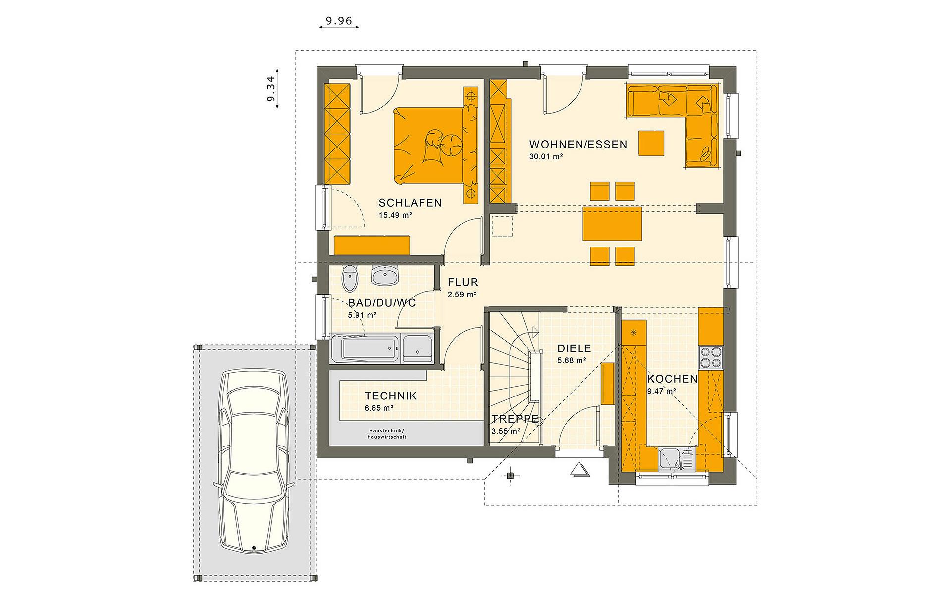 Erdgeschoss SOLUTION 78 V3 von Living Fertighaus GmbH