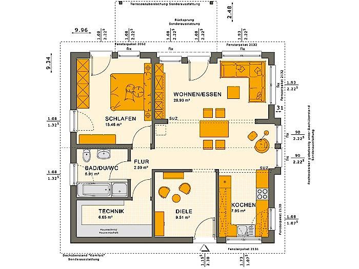 Erdgeschoss SOLUTION 78 V6 von Living Fertighaus GmbH