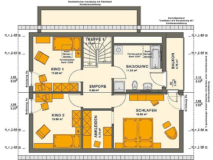 Dachgeschoss SUNSHINE 143 V2 von Living Fertighaus GmbH