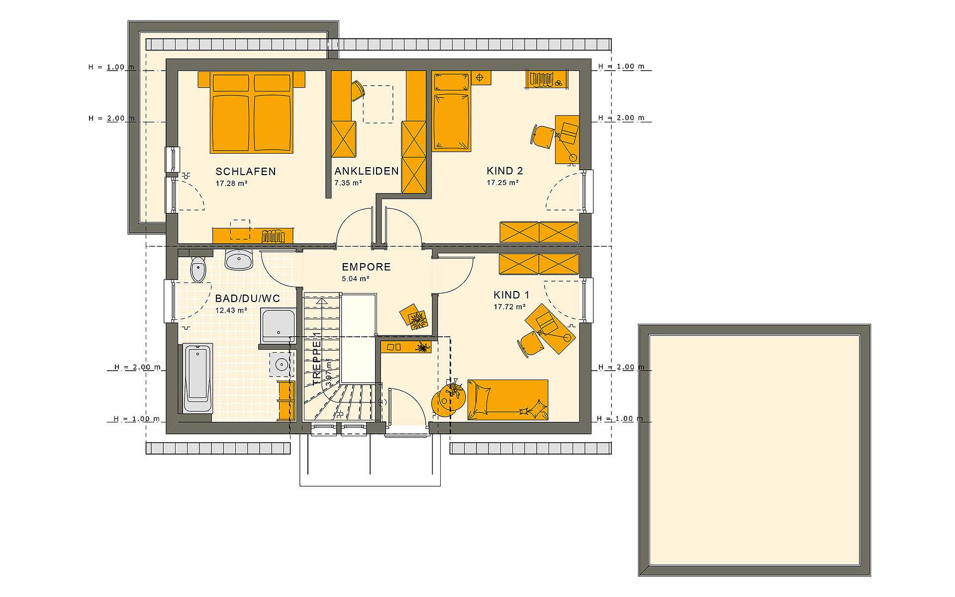 Dachgeschoss SUNSHINE 165 V2 von Living Fertighaus GmbH