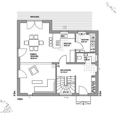 fertighaus fertigh user edition 21plus sd klassik 110 03 qm und satteldach als holztafelbau. Black Bedroom Furniture Sets. Home Design Ideas