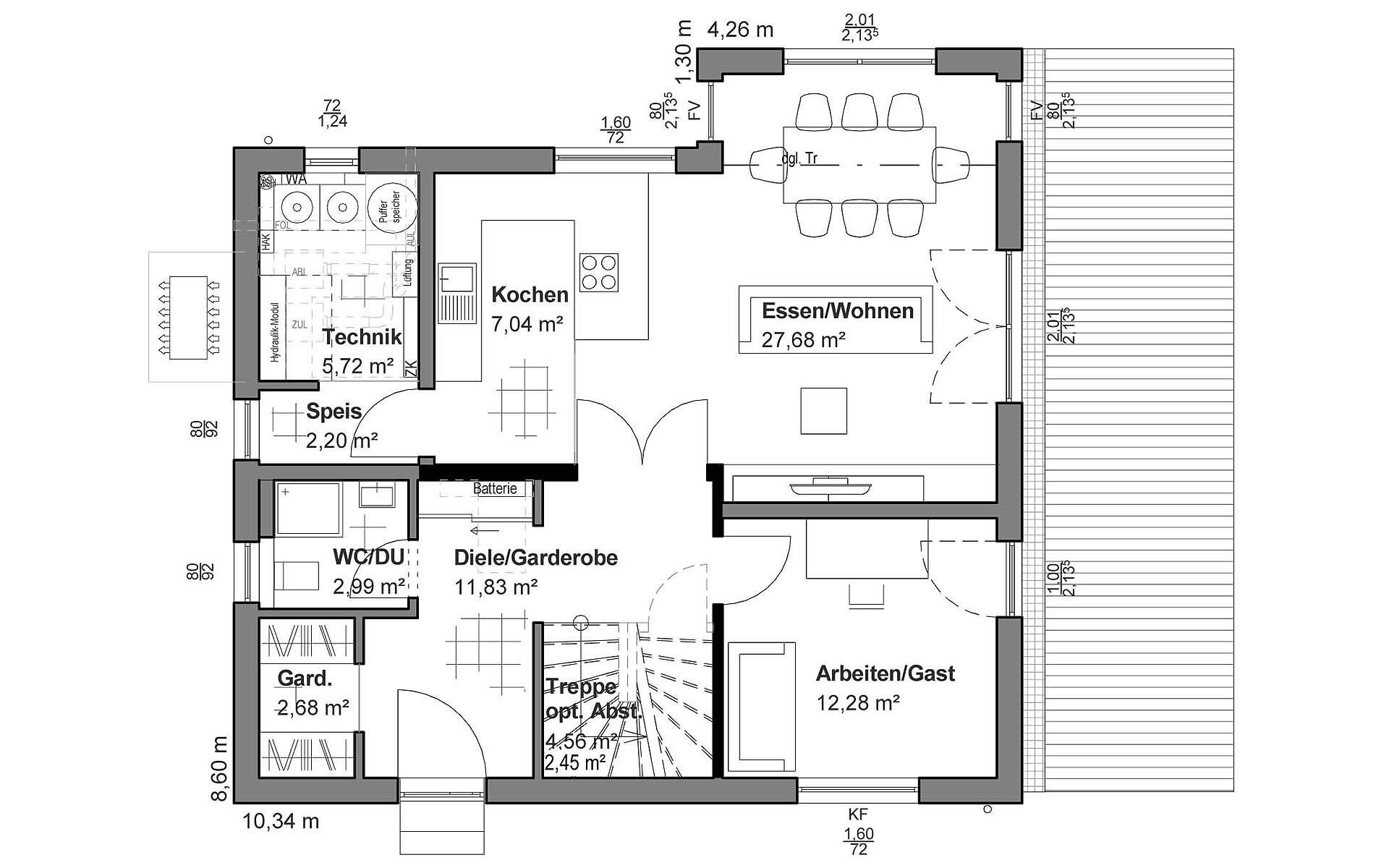 Erdgeschoss Flachdach M von LUXHAUS Vertrieb GmbH & Co. KG