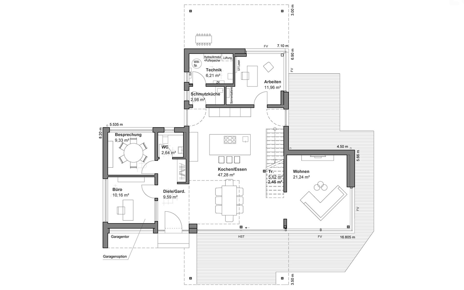 Erdgeschoss Musterhaus Bad Vilbel von LUXHAUS Vertrieb GmbH & Co. KG
