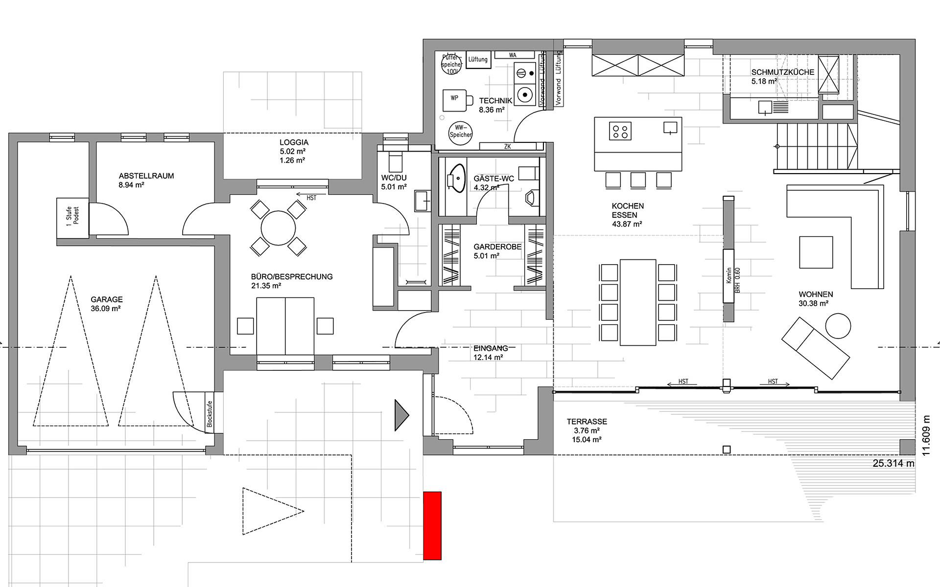 Erdgeschoss Musterhaus Köln von LUXHAUS Vertrieb GmbH & Co. KG