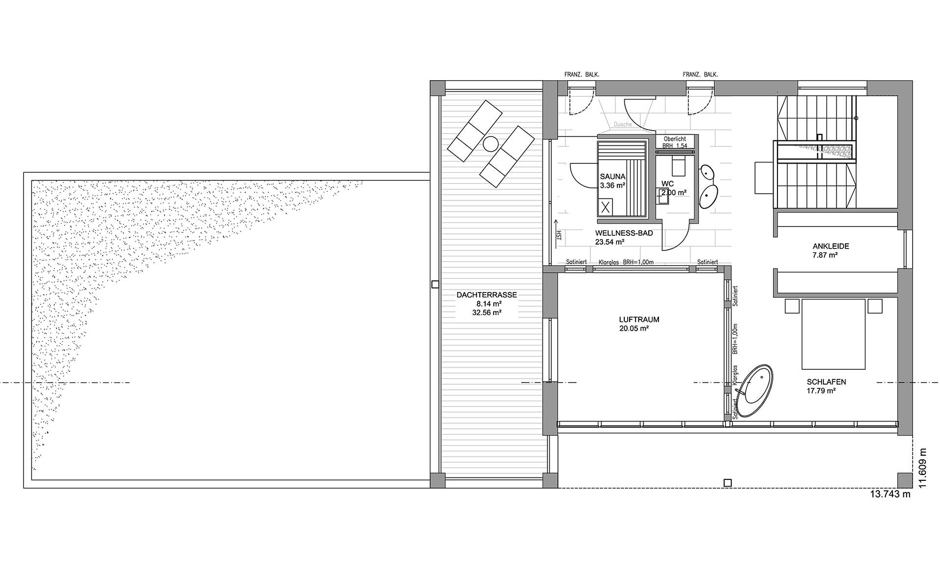 Obergeschoss Musterhaus Köln von LUXHAUS Vertrieb GmbH & Co. KG