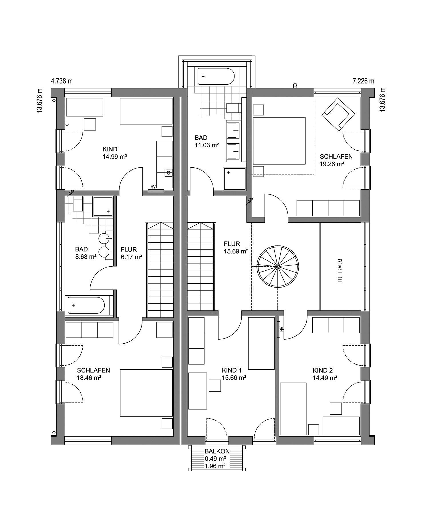 Obergeschoss Musterhaus Mannheim von LUXHAUS Vertrieb GmbH & Co. KG