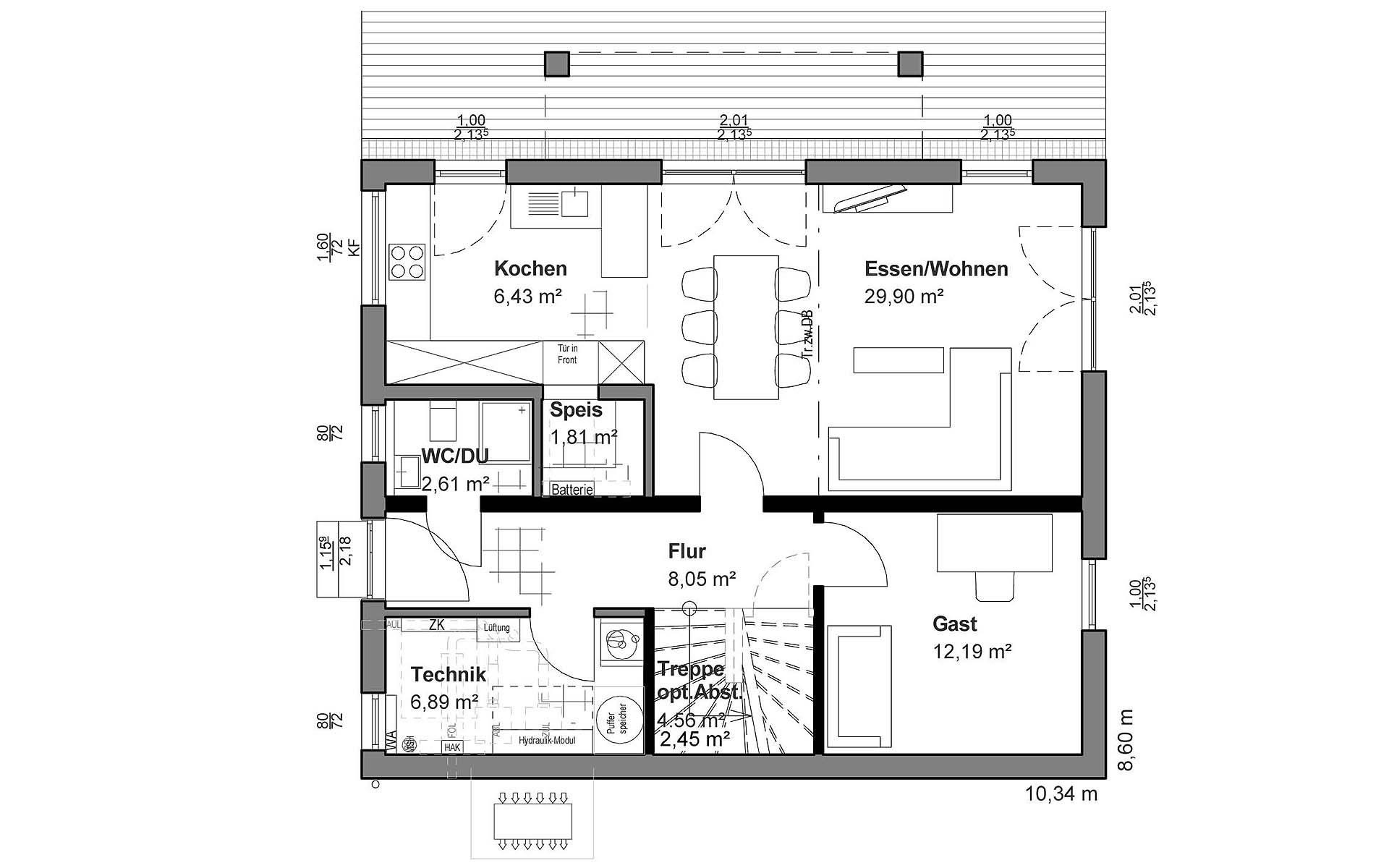 Erdgeschoss Pultdach Klassik von LUXHAUS Vertrieb GmbH & Co. KG
